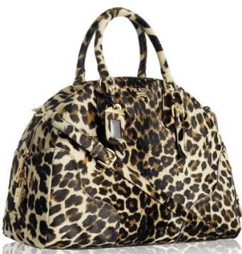 Стильная женская сумка с леопардовым принтом, оригинальная ручка.